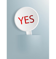 Plate with the word yes vector