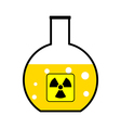 Laboratory flask with a radioactive reagent vector
