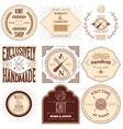 Set of vintage knitting labels badges and design vector