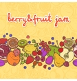 Fruits and berries border horizontal vector