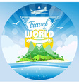 Travel the world tropical background vector