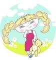 Blonde girl vector