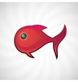 Red small fish isolated vector