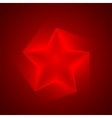 Red star background eps10 vector