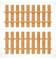 Wooden fence from long planking vector