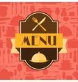 Restaurant menu background in flat design style vector