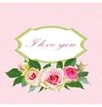 Floral background with vintage label vector