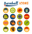 Flat design icons of baseball vector