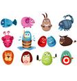 Easter zodiac set vector