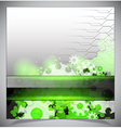 Green and white modern futuristic background vector