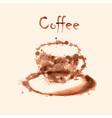 Watercolor coffee background vector