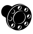 Black pipe flange silhouette vector