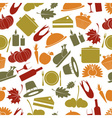 Thanksgiving color seamless autumn pattern eps10 vector