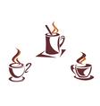 Coffee symbols vector