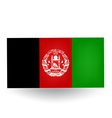Afghanistan flag vector
