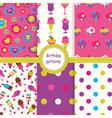 Set of birthday patterns vector