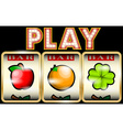 Slot machine with fruits vector