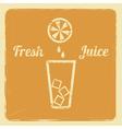 Juice retro poster orange vector