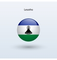 Lesotho round flag vector