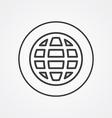 Globe outline symbol dark on white background logo vector