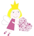 Princess with heart vector