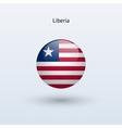 Liberia round flag vector