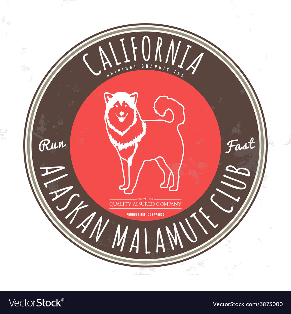 Alaskan malamute club california tee graphic vector | Price: 1 Credit (USD $1)