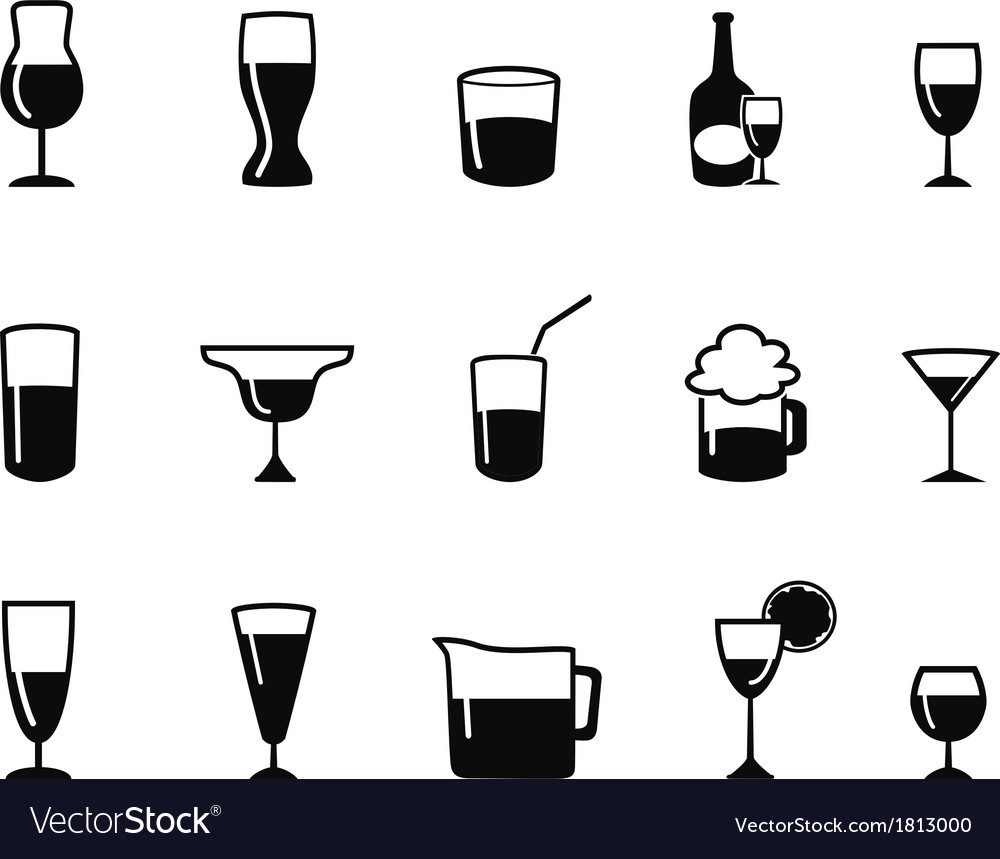 Alcohol icons set vector | Price: 1 Credit (USD $1)