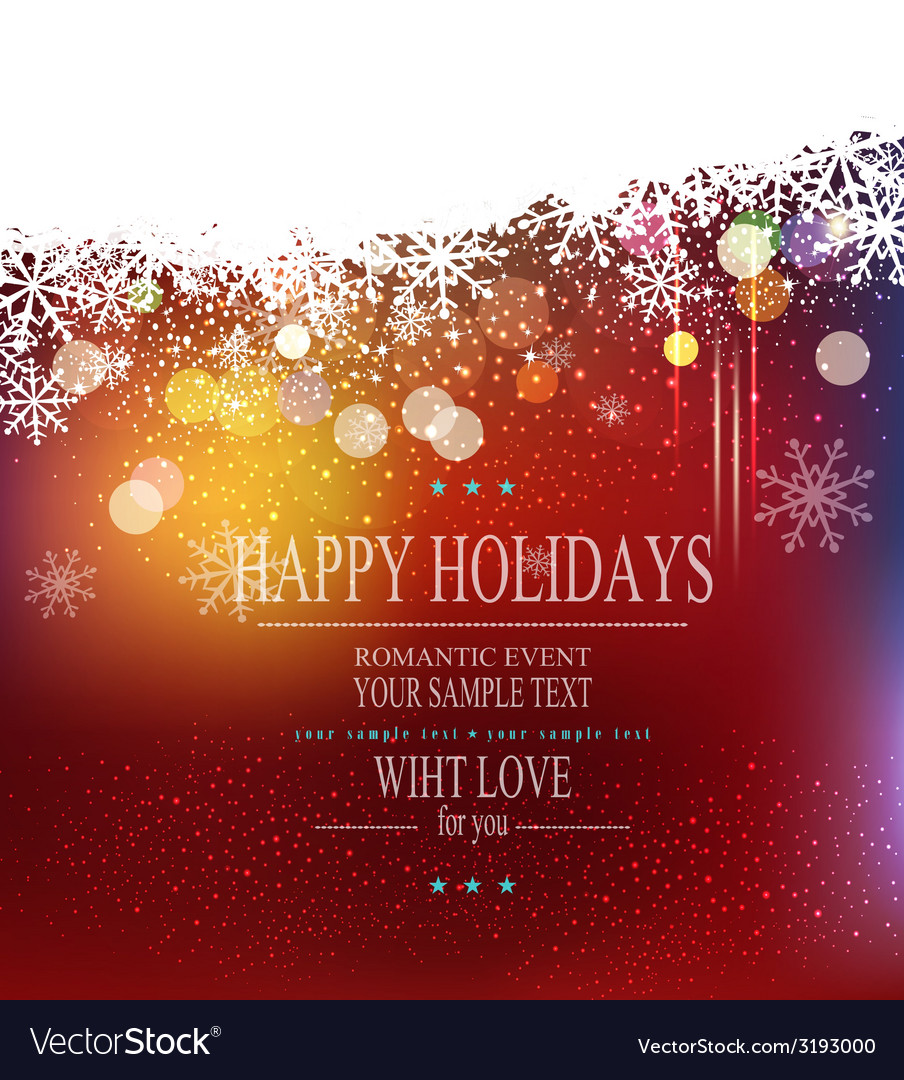Christmas holiday background with snowflakes vector | Price: 1 Credit (USD $1)