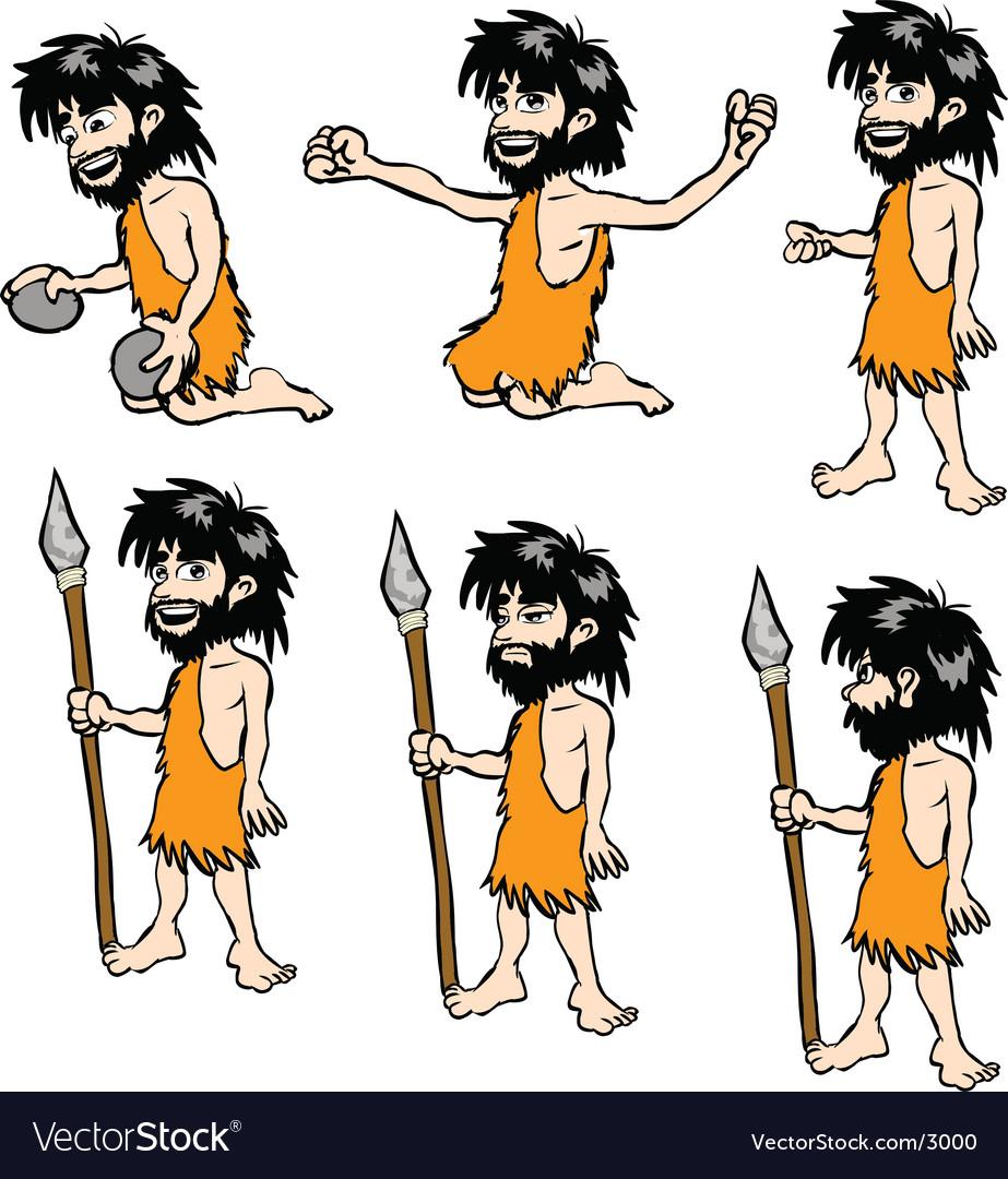 Crude caveman vector | Price: 5 Credit (USD $5)