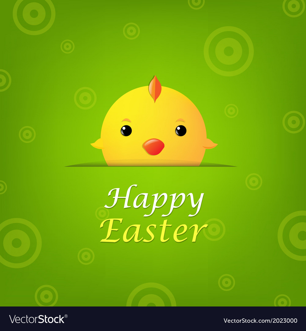 Easter banner with chicken vector | Price: 1 Credit (USD $1)