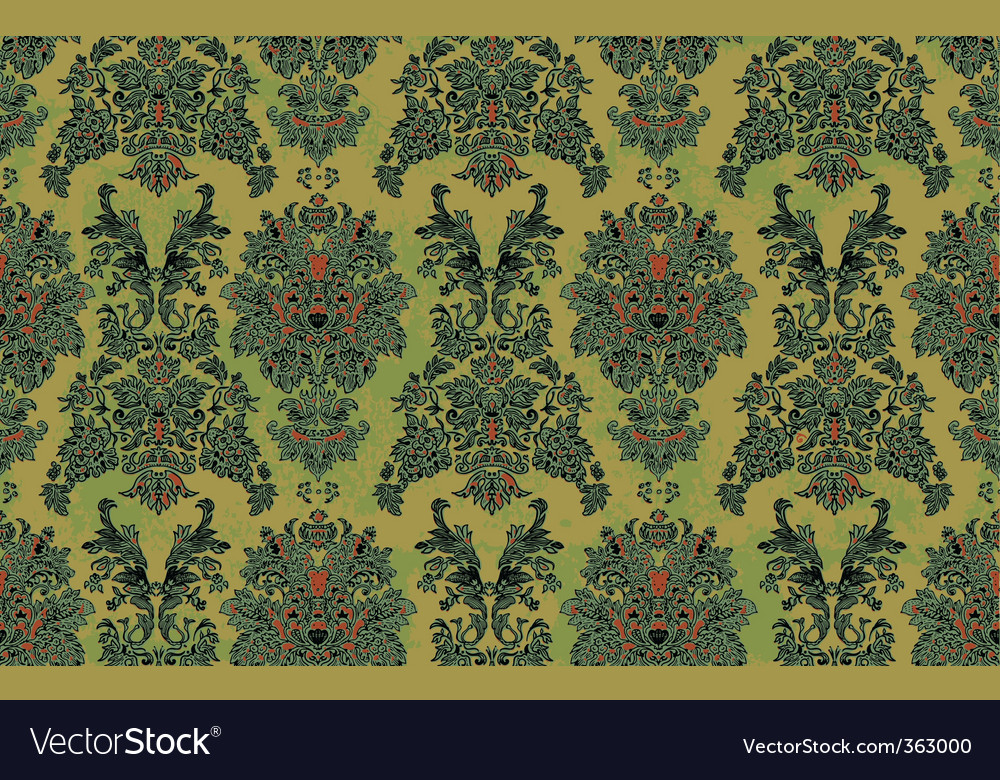 Hand drawn damask pattern vector | Price: 1 Credit (USD $1)