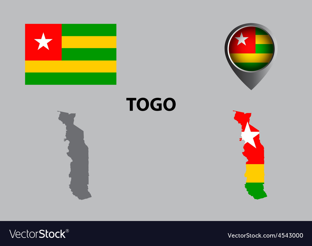Map of togo and symbol vector | Price: 1 Credit (USD $1)