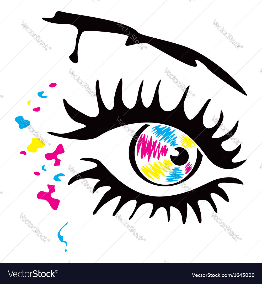 Printer eye vector | Price: 1 Credit (USD $1)