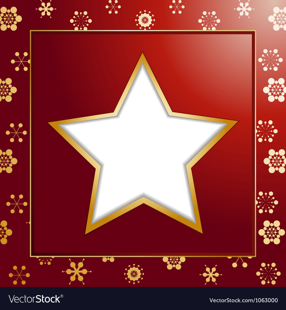 Red christmas star background and border vector | Price: 1 Credit (USD $1)