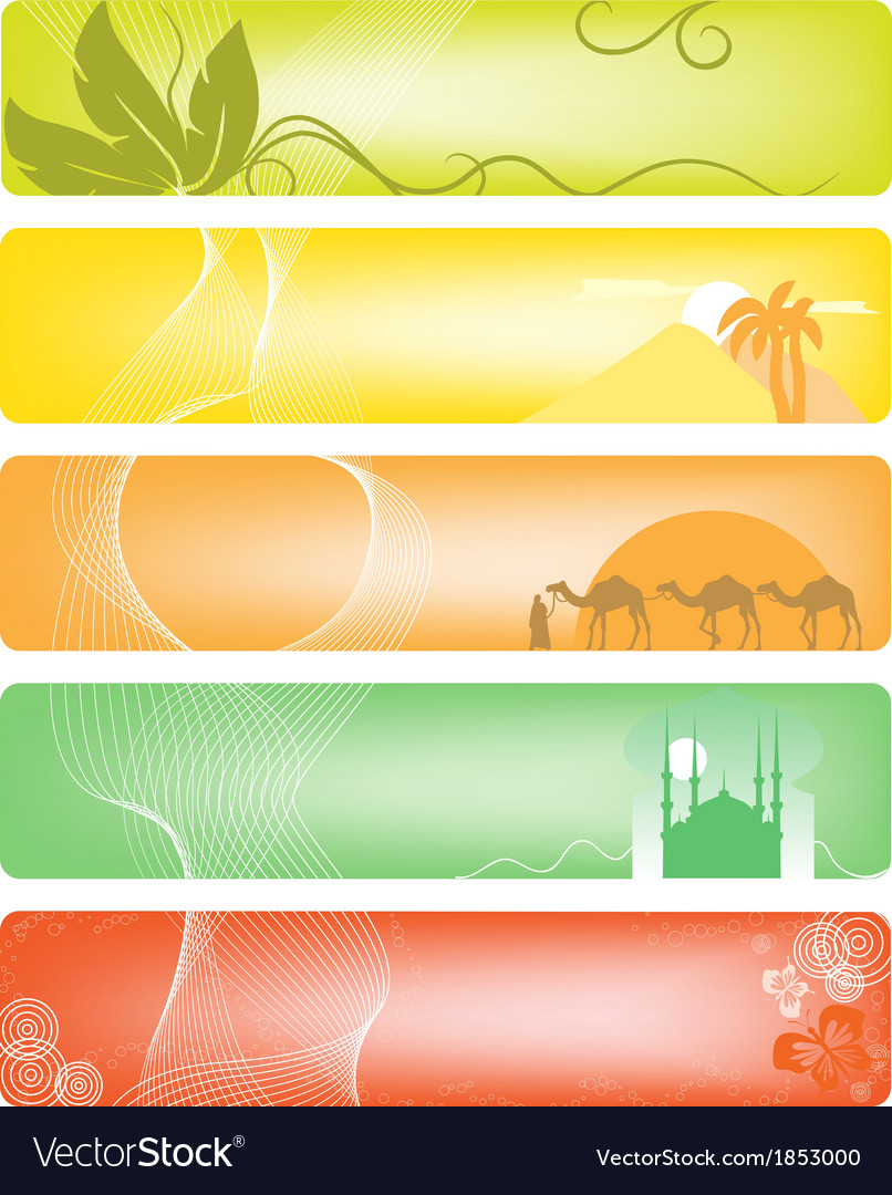 Set of 5 banner vector   Price: 1 Credit (USD $1)