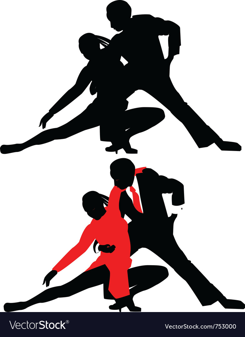 Silhouettes of dancing couples vector | Price: 1 Credit (USD $1)