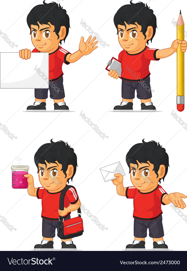 Soccer boy customizable mascot 9 vector | Price: 1 Credit (USD $1)