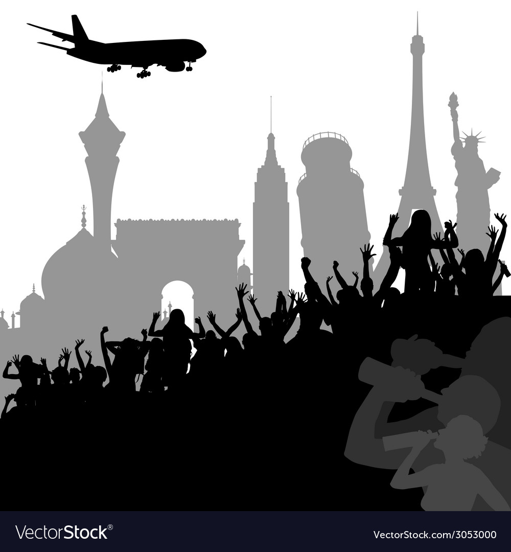 Travel to different cities vector | Price: 1 Credit (USD $1)