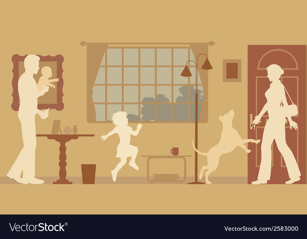 Welcoming family vector   Price: 1 Credit (USD $1)
