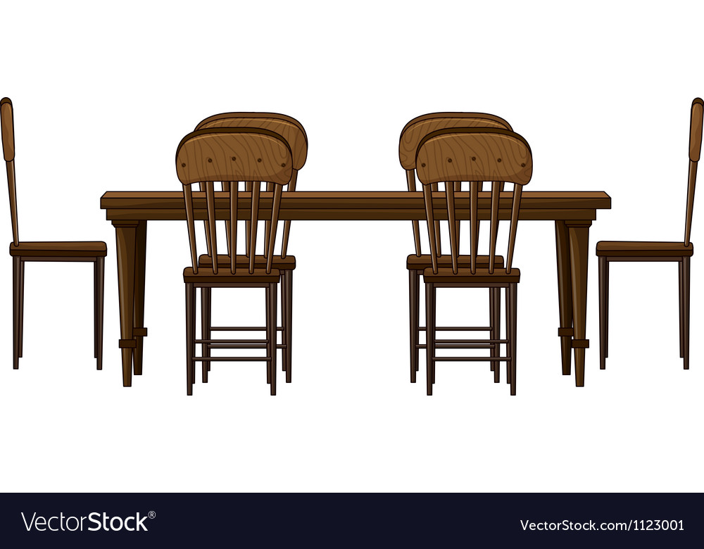 A dinning table vector | Price: 1 Credit (USD $1)
