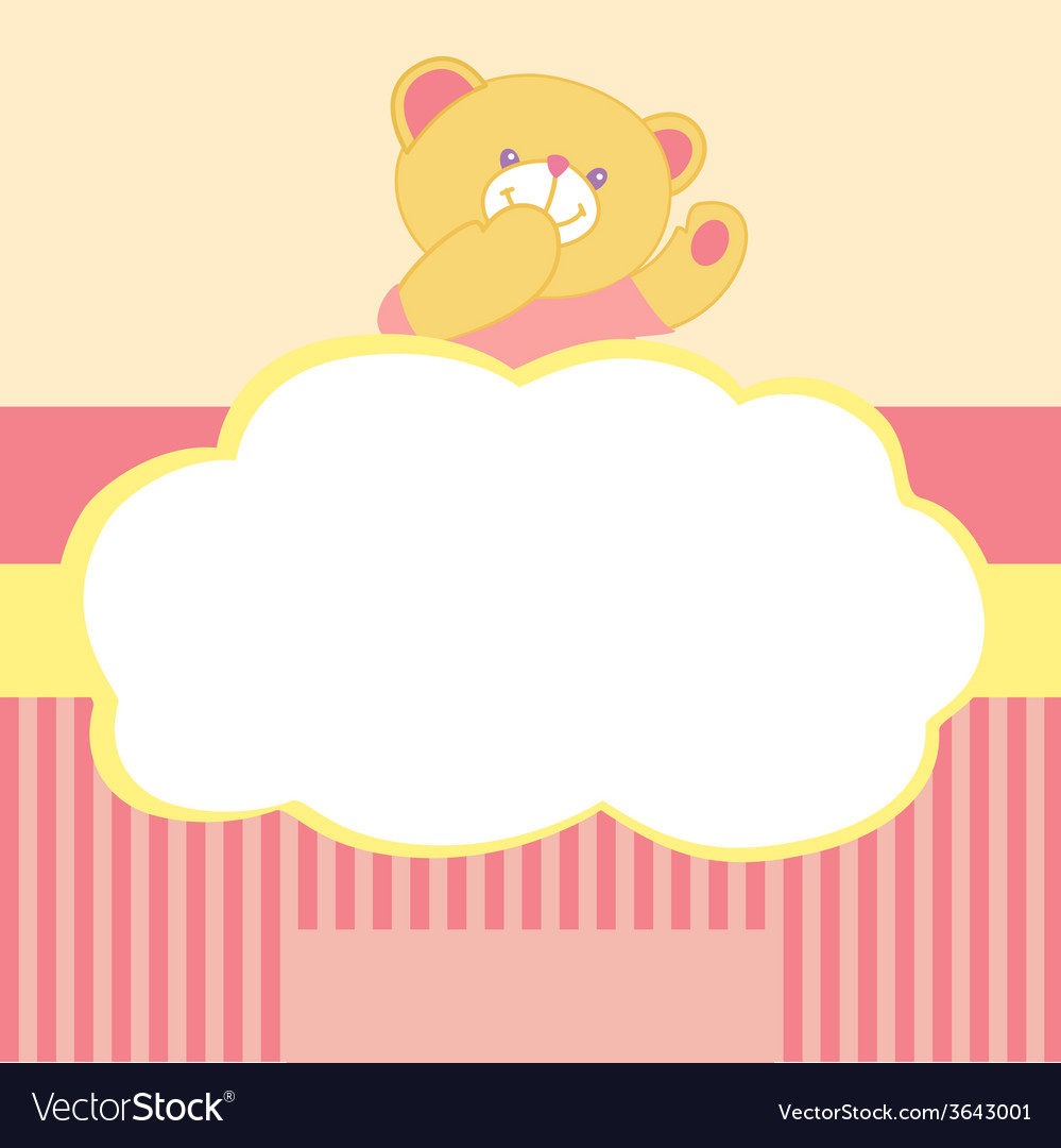 Background with teddy bear kiss love space for vector | Price: 1 Credit (USD $1)