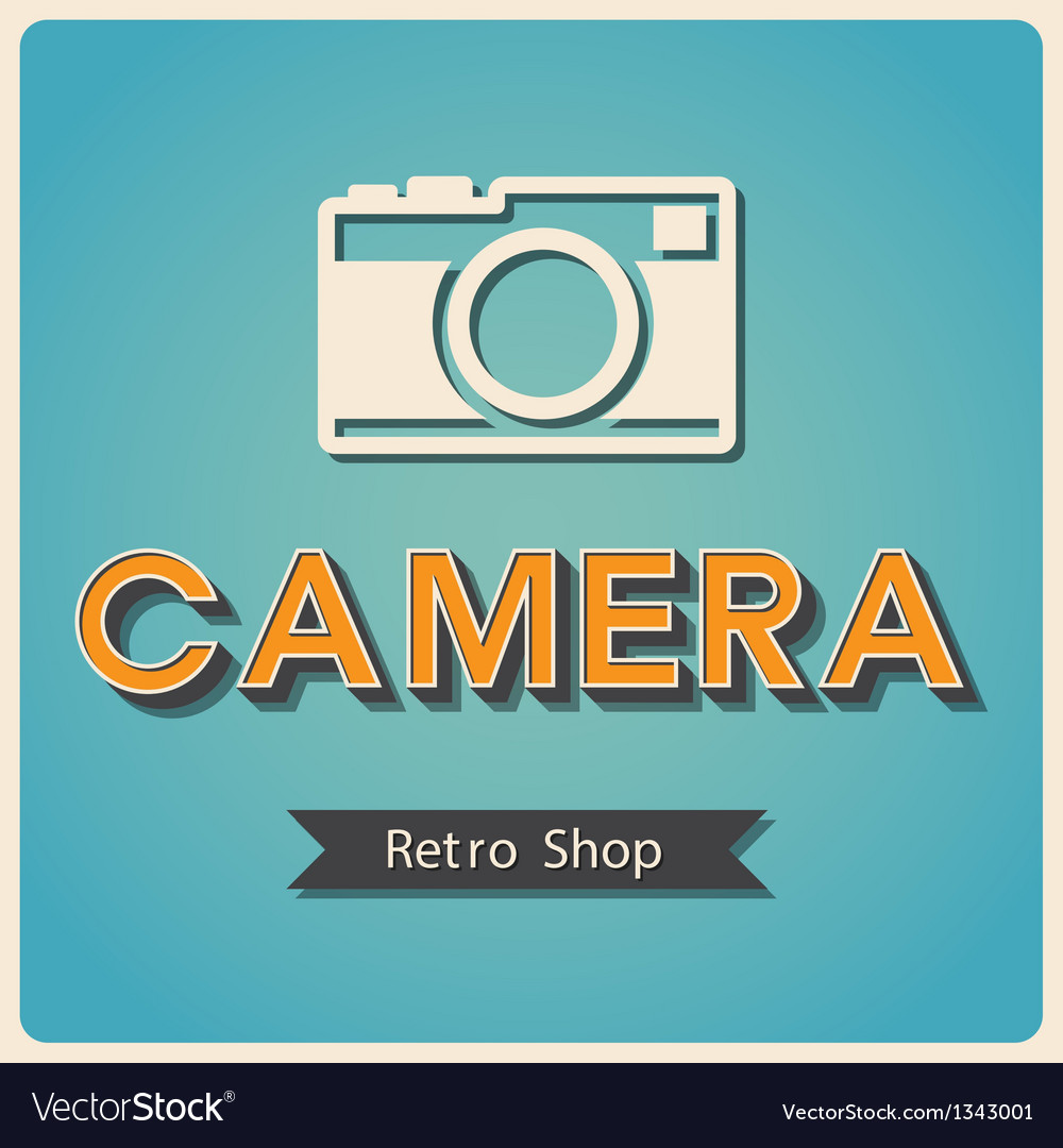 Camera shop retro poster vector | Price: 1 Credit (USD $1)