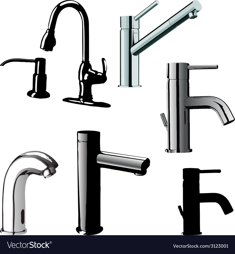 Different drinking fountains vector | Price: 1 Credit (USD $1)