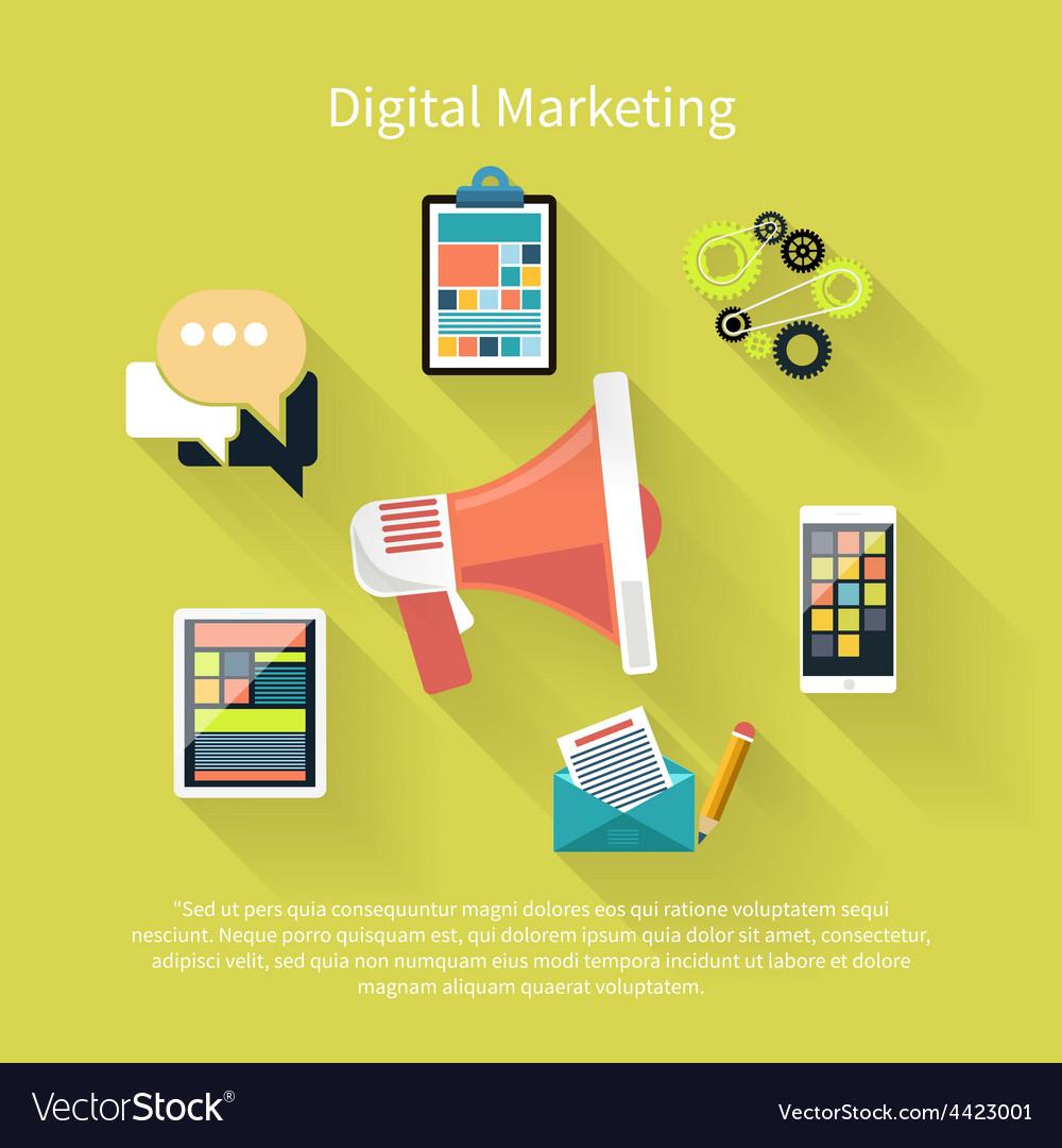 Digital marketing concept vector | Price: 1 Credit (USD $1)