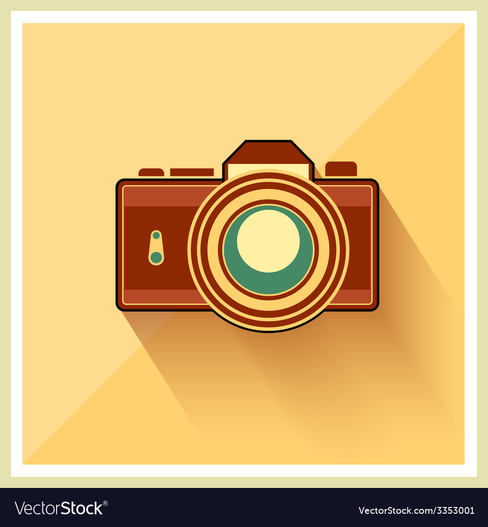 Dslr professional camera retro icon vector | Price: 1 Credit (USD $1)