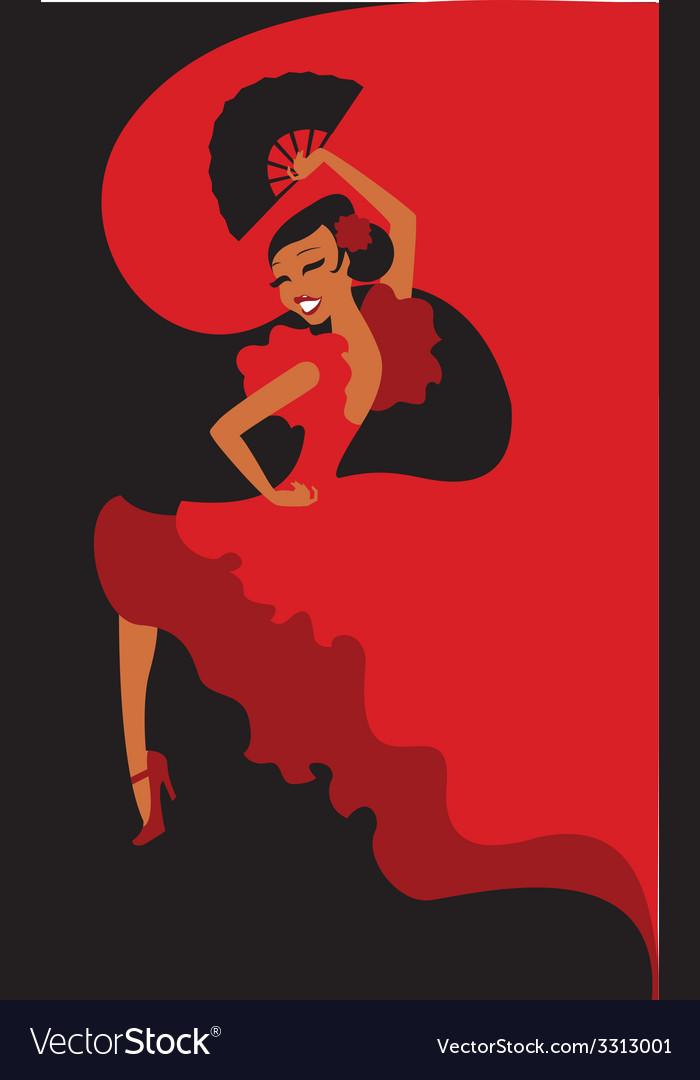 Flamenco dancer vector   Price: 1 Credit (USD $1)
