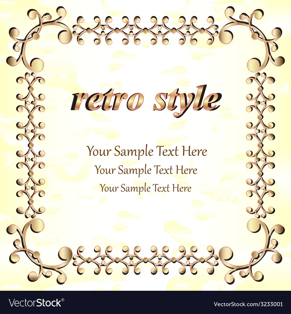 Frame with a gold rim vector | Price: 1 Credit (USD $1)