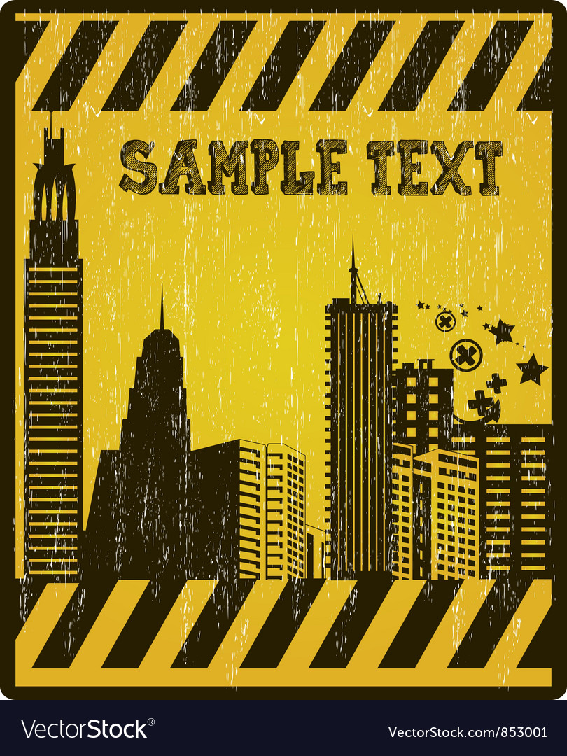 Grunge under construction sign vector | Price: 1 Credit (USD $1)