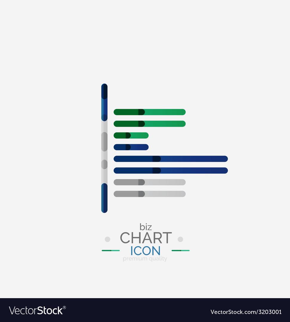 Line graph chart icon vector   Price: 1 Credit (USD $1)